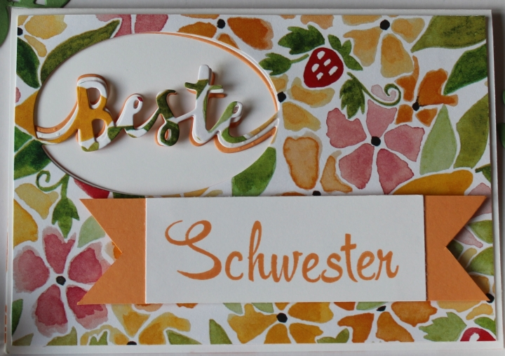 Stempelhurra.com Schwesterherz, Lovely Words, Stampin Up, SU