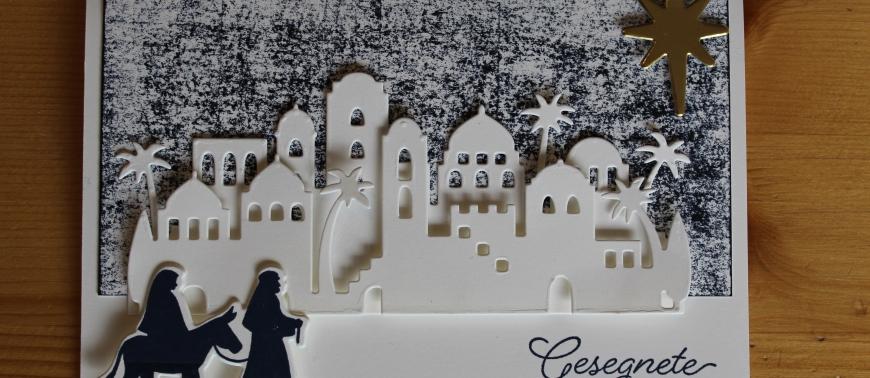Stempelhurra.com Weihnachtskarte Heilige Nacht, Christmas Card Night In Bethlehem, Stampin Up, SU