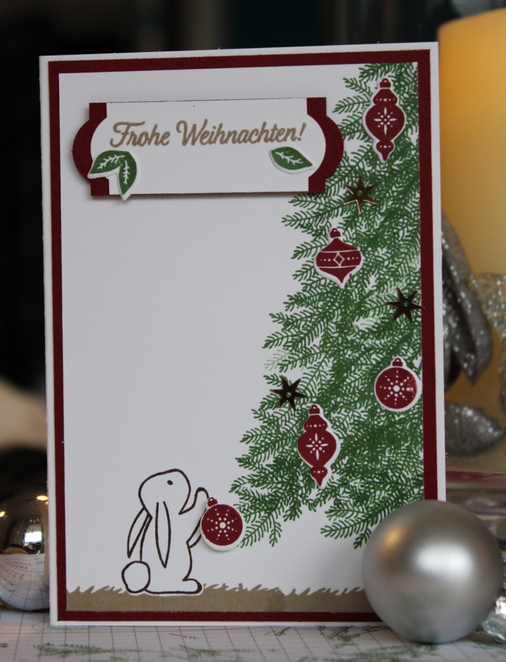 Stempelhurra.com Weihnachtskarte, Stampin Up, Christmas