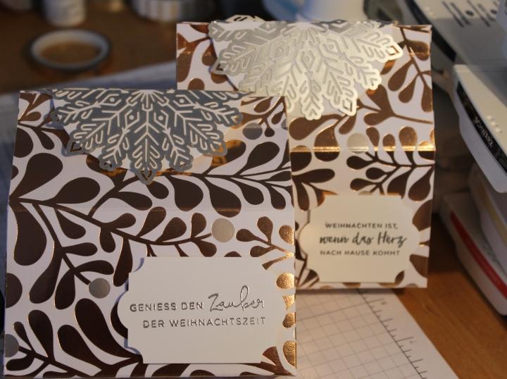 Aus wunderschönem Papier eine tolle Verpackung gezaubert… mit Anleitung…
