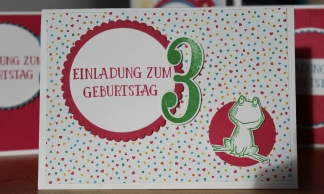 Stempelhurra.com, Einladung zum Kindergeburtstag, love you lots, Stampin' Up! SU