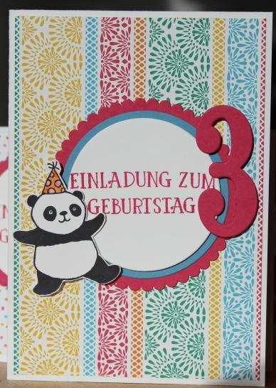 Stempelhurra.com, Einladung zum Kindergeburtstag, Party Pandas, Stampin' Up! SU