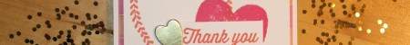 Stempelhurra.com Dankeskarte Heart of Happiness, Eclectic Expressions, Stampin Up, SU
