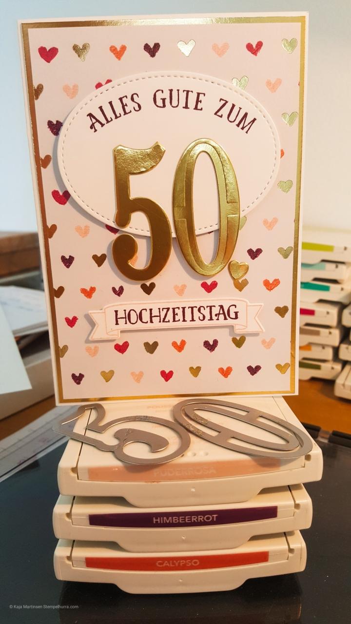 Stempelhurra.com So viele Jahre, Large Numbers Framelits Dies, Goldene Hochzeit, Stampin Up, SU