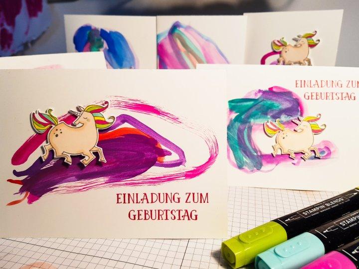 Stempelhurra.com, Einladung zum Kindergeburtstag, Einhorn, Stampin Up, SU